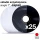 """Okładki antystatyczne JAPAN Basic 7"""" owalne - 25szt."""