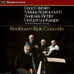 Beethoven Triple Concerto: Oistrakh, Rostropovich, Richter, Karajan - The Berlin Philharmonic Orchestra , Hi-Q Records  2010