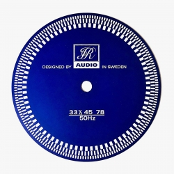 Dysk stroboskopowy JR Audio w kasetce, niebieski