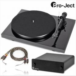 """Gramofon Pro-Ject DEBUT Carbon DC Piano 2M Silver, przedwzmacniacz Phono USB - """"SUPER PACK"""" Edycja specjalna 1990 pln"""