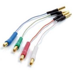 Kabelki do wkładki, CLEARAUDIO  | Zaciskane złocone terminale |