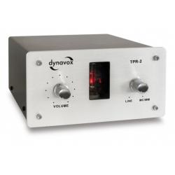 Przedwzmacniacz gramofonowy DYNAVOX TPR-2, lampowy | Srebrny