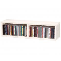 Półka na płyty CD (60 płyt) - biała